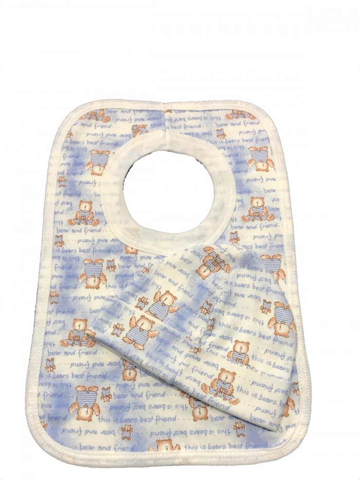 Gift set - bib and hat (Bears design)