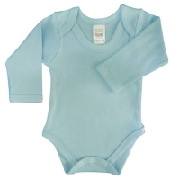 envelope neck long sleeve body suit - sky blue