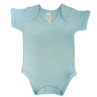 envelope neck short sleeve body suit - sky blue