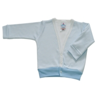 baby cardigan - blue stripe