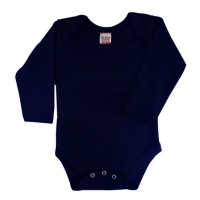 envelope neck long sleeve body suit - navy