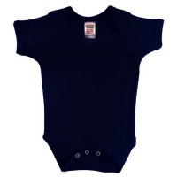 envelope neck short sleeve body suit - navy