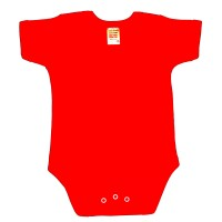 envelope neck short sleeve body suit - red