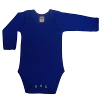 envelope neck long sleeve body suit - royal blue