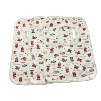 3pk bibs - sleepy bears print